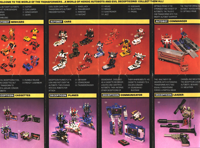 Rg S Transformers Master List By Series