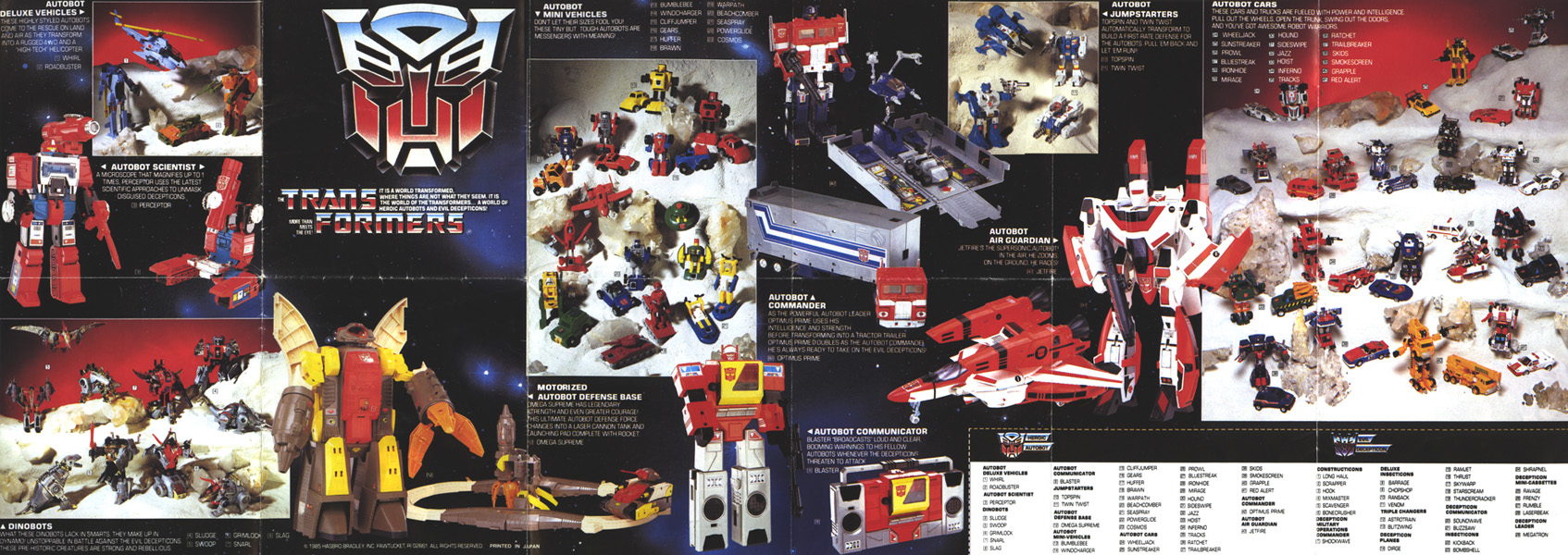 rgs transformers master list by series