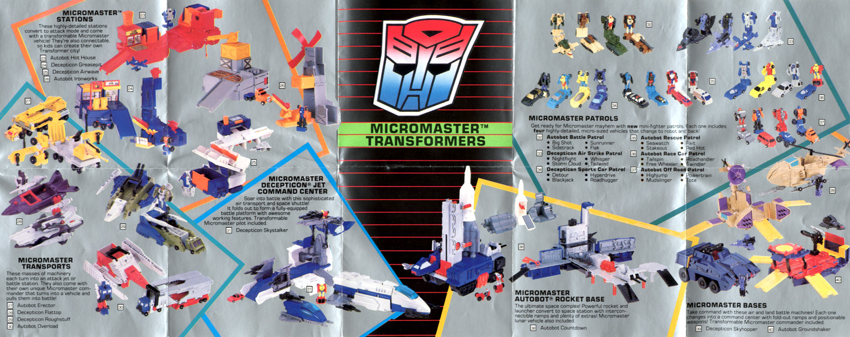 Transformers G1 Parts 1989 FLATTOP commander figure micromaster hasbro