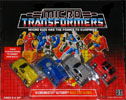 Transformers Generation 1 Micromaster Race Car Patrol (Free Wheeler, Roadhammer, Swindler, Tailspin)