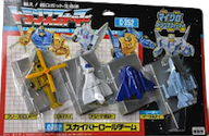 Transformers Zone (Takara G1) Sky Patrol Team (Breeze Master, Eagle Eye, Sky High, and Tread Bolt)