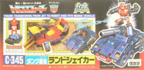 Transformers Zone (Takara G1) Landshaker with Gunrunner