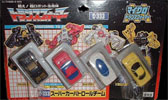 Takara - G1 - Zone Super Car Patrol Team (Black Heat, Deadhour, Gingham, and Road Hugger)