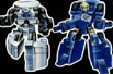 G1 Micromaster Combiner Metro Squad (Power Run & Strikedown, Oiler & Slide, Roadburner & Wheel Blaze)