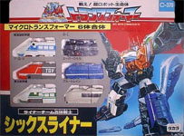Takara - G1 - Return of Convoy Sixliner (Alan, D-Go, Joe, Leaf, Night and Spark)