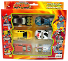 Transformers Car Robots (Takara) C-011 Spychangers 6-set