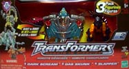 Transformers Robots In Disguise Dark Scream, Gas Skunk, Slapper