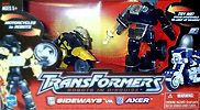 Transformers Robots In Disguise / RID (2001-) Sideways vs. Axer (Wal-Mart ex.)