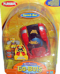 Transformers Go-Bots Speed-Bot Racer (sportscar) with Kid-Bot and Gas-Bot