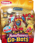 Transformers Go-Bots Speed-Bot II (formula 1 race car) with Kid-Bot and Gas-Bot