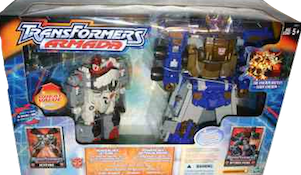 Transformers Armada Powerlinx Jetfire, Powerlinx Optimus Prime & Adventure Mini-Cons (Kmart ex. - w/ Mini-Cons Comettor, Sparkplug, Longarm, & Adventure Mini-Con team Dune Runner, Iceberg, & Ransack)