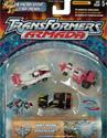 Transformers Armada Road Assault Team (Race Team repaint - Downshift, Dirt Boss, Mirage)
