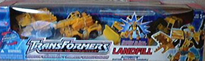 Robots In Disguise / RID (2001-) Landfill set - Yellow (Sam's Club Exclusive - Wedge, Grimlock, Hightower, Heavy Load)