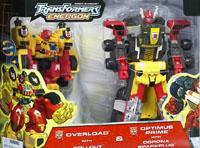 Transformers Energon Overload w/ Rollout & Optimus Prime w/ Corona Sparkplug (Costco exclusive)