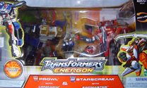 Transformers Energon Prowl w/ Longarm & Starscream w/ Zapmaster (Armada Red Alert & SS redecos - Sam