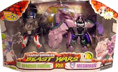 Transformers Beast Wars 10th Optimus Primal vs. Megatron (Leader Class - TRU exclusive)