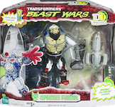 "Transformers Beast Wars 10th Optimus Primal w/ Maximal Ship ""Axalon"""
