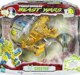 "Transformers Beast Wars 10th Cheetor, w/ ""Equal Measures"" DVD & Transmutate upper torso"