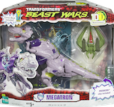 "Transformers Beast Wars 10th Megatron with Predacon Ship & ""The Gathering"" comic"