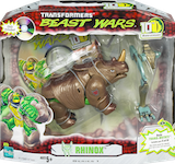 "Transformers Beast Wars 10th Rhinox w/ ""The Spark"" DVD & Transmutate rt leg/abdomen"