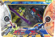 Transformers Galaxy Force (Takara) GS-01 Buzz Saw vs Blurr