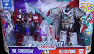 Cybertron Starscream vs. Vector Prime (TRU exclusive)