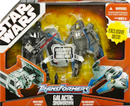 Transformers Crossovers Galactic Showdown 2-Pack (Darth Vader / TIE Advanced and Obi-Wan Kenobi / Jedi Starfighter - redecos)