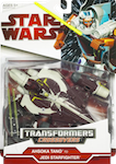 Transformers Crossovers Ahsoka Tano to Jedi Starfighter