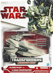 Transformers Crossovers Clone Pilot to V-Wing Starfighter