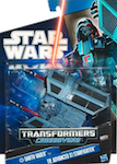 Transformers Crossovers Darth Vader to TIE Advanced X1 Starfighter