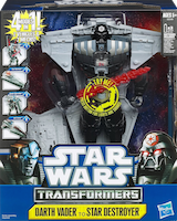 Transformers Crossovers Darth Vader / Star Destroyer and Anakin Skywalker / Republic Battle Cruiser