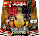 Transformers Titanium Cliffjumper vs. Dead End (Toys R Us ex.)