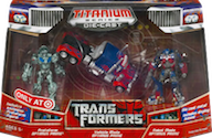 Transformers Titanium Ultimate Optimus Prime 3-Pack (Movie Protoform, Vehicle Mode & Robot Mode; Target exclusive)