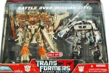 Transformers (Movie) Battle over Mission City - Screen Battles Megatron vs Autobot Jazz