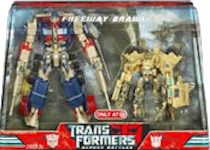 Transformers (Movie) Optimus Prime vs Bonecrusher Screen Battles Freeway Brawl