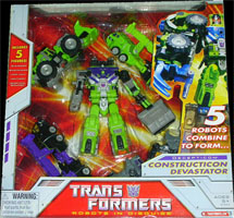 Classics Transformers Constructicon Devastator - w/ Bonecrusher, Long Haul, Hightower, Scavenger, Scrapper