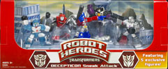 Movie Robot Heroes Mirage, Cliffjumper, Optimus Prime, Skywarp, Megatron (Wal-Mart exclusive)