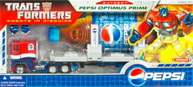 Classics Transformers Pepsi Optimus Prime (Hasbro Toy Shop exclusive)