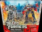 Transformers (Movie) Robot Replicas Megatron vs. Optimus Prime (battle damaged, Wal-Mart exclusive)