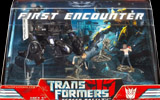 Transformers (Movie) Barricade with Frenzy, Sam Witwicky, Mikaela Banes -Screen Battles First Encounter