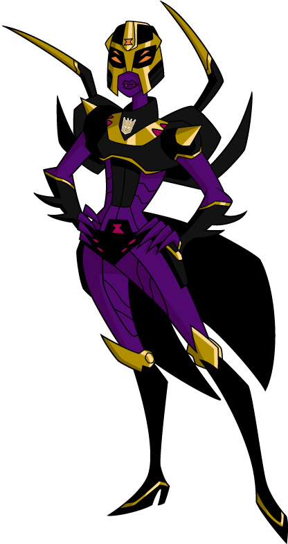 Images du design des personnages de Transformers Animated DECEPTICON%20BLACKARACHNIA