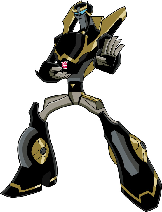 Images du design des personnages de Transformers Animated PROWL