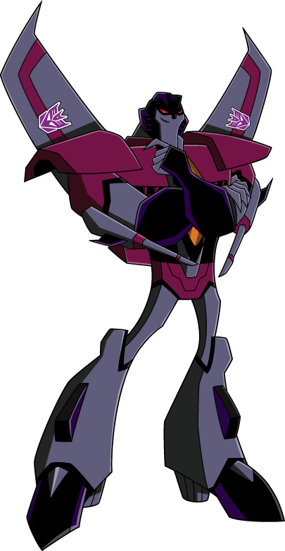 Images du design des personnages de Transformers Animated STARSCREAM