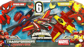 Transformers Crossovers Spider-Man & Iron Man 2-pack