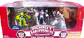 Transformers (Movie) Robot Heroes, The Final Battle, 5-pack (Wal-Mart exclusive - Optimus Prime, Megatron, Blackout, Jazz, Ratchet)