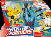Transformers Animated Rescue Ratchet (with Prowl & Starscream, Target exclusive)