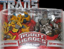 Transformers (Movie) Robot Heroes Armor Bumblebee vs. Starscream