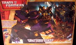 Transformers Timelines (BotCon) Box Set - Shattered Glass Optimus Prime, Grimlock, Goldbug, Autobot Jazz, Starscream & Razorclaw