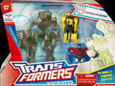 Transformers Animated Stealth Lockdown (with Bumblebee & Optimus Prime, Target exclusive)