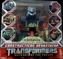 Transformers 2 Revenge of the Fallen Constructicon Devastator (Mixmaster, Scrapper, Long Haul, Scavenger, Hightower, Rampage)